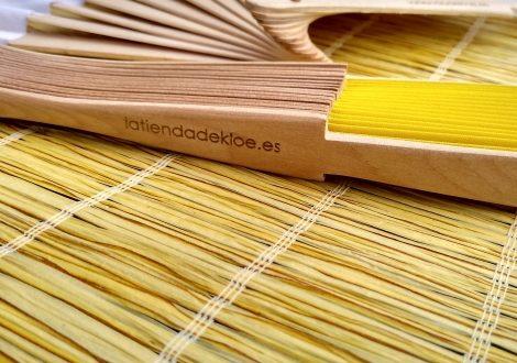 abanico-madera-textil personlaizado para bodas